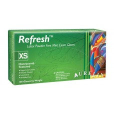 Supermax Aurelia Refresh - Powder-free latex exam gloves with a peppermint scent - X-SMALL