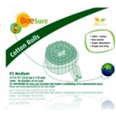 BeeSure Cotton Rolls No. 2 (Medium) 2000/box