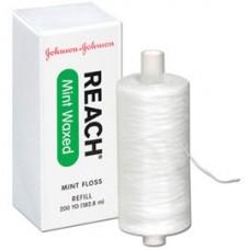 J&J REACH® DENTAL FLOSS - PROFESSIONAL SIZE - Dental Floss, Waxed, Mint, 200 yds