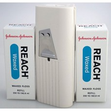 J&J REACH® DENTAL FLOSS - PROFESSIONAL SIZE - Dental Floss, Waxed, 200 yds + 1 Dispenser