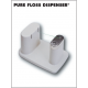 Pure Floss Dispenser, Single Pure Floss Dispenser: 1 base, 1 tower assembly and 1 removable cutter cap