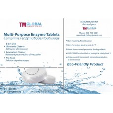 TM Global Multi Purpose Enzymatic Tablets, 64 tabs/bx (Ultrasonic Enzyme)